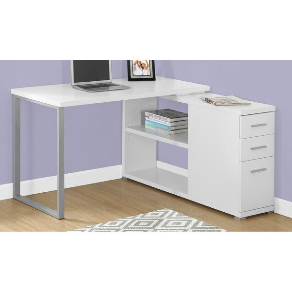 Leicester L-Shape Executive Desk by Ebern Designs