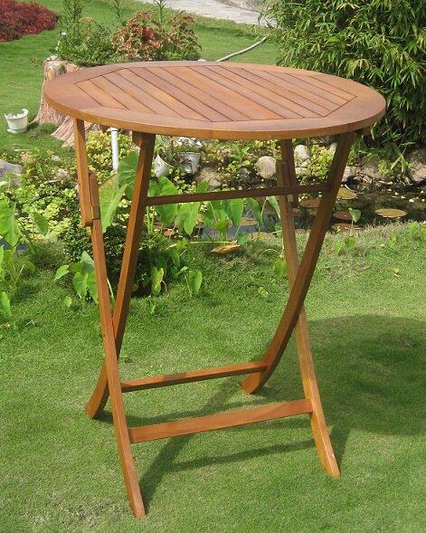 Church Street Solid Wood Bar Table by Breakwater Bay