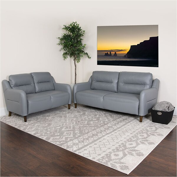 Laforge Upholstered Bustle 2 Piece Living Room Set by Ebern Designs