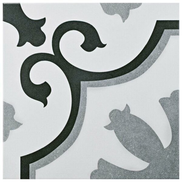 Nouvelle 12 38 X 12 38 Ceramic Field Tile In Gray White By Elitetile.