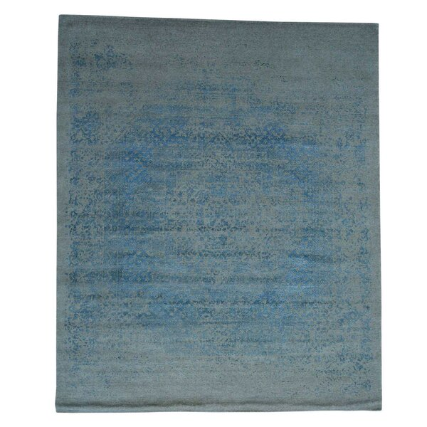 One-of-a-Kind Ebert Broken Hand-Knotted Silk Area Rug by Rosecliff Heights