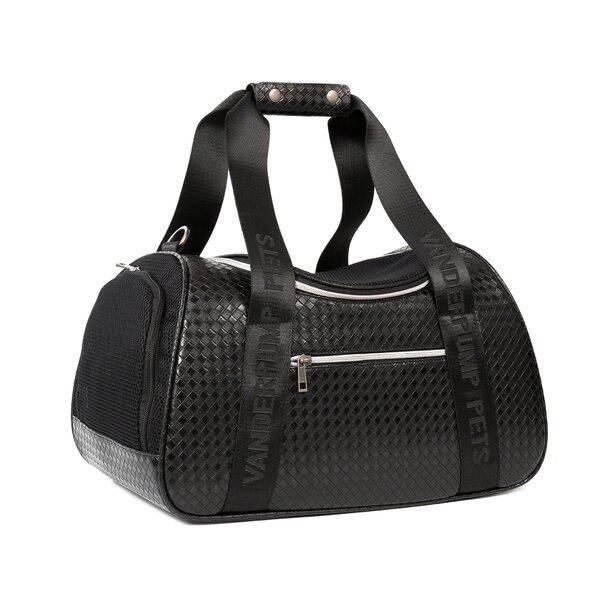 Graphite Duffle Pet Carrier by Vanderpump Pets