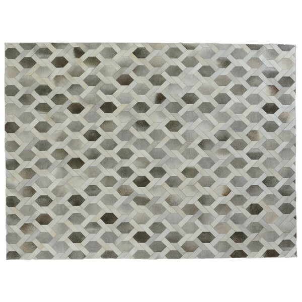 Natural Hide Hand-Tufted Cowhide Gray/Ivory Area Rug by Exquisite Rugs