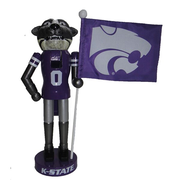 Kansas State Mascot Nutcracker with Flag by Santa's Workshop