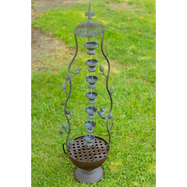 Metal 7 Hanging Cup Tier Layered Floor Fountain by Alpine