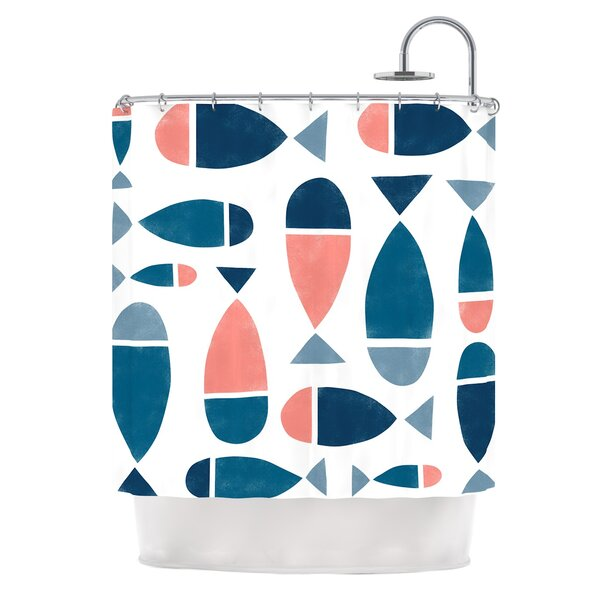 Fish by Alik Arzoumanian Shower Curtain by East Urban Home