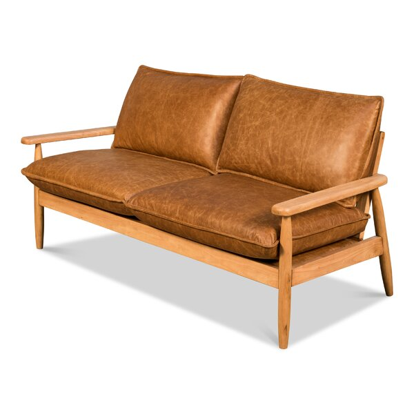 Hephzibah Leather Sofa by Foundry Select