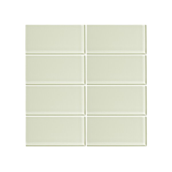 3 x 6 Glass Subway Tile in Honey Dew (Set of 6) by Vicci Design