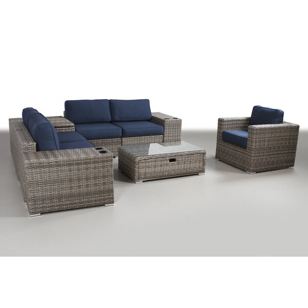 Leamon 9 Piece Rattan Sectional Seating Group With Cushions By Sol 72 Outdoor