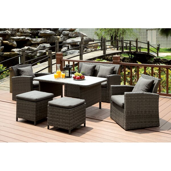 Camille 6 Piece Lounge Seating Group with Cushion Brayden Studio BRAY6466