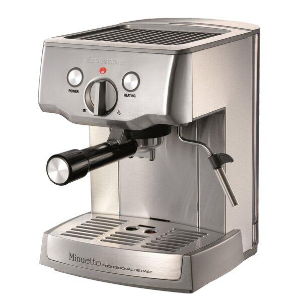 Cafe Minuetto Professional Die-Cast Espresso/Cappuccino Maker by Espressione