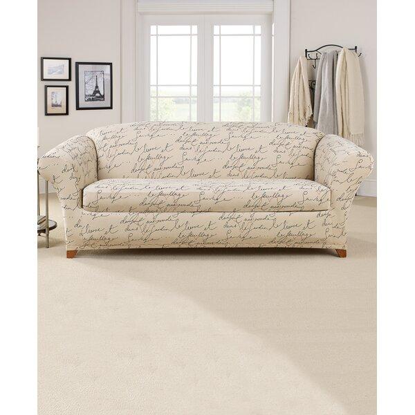 Review Stretch Pen Pal Box Cushion Sofa Slipcover