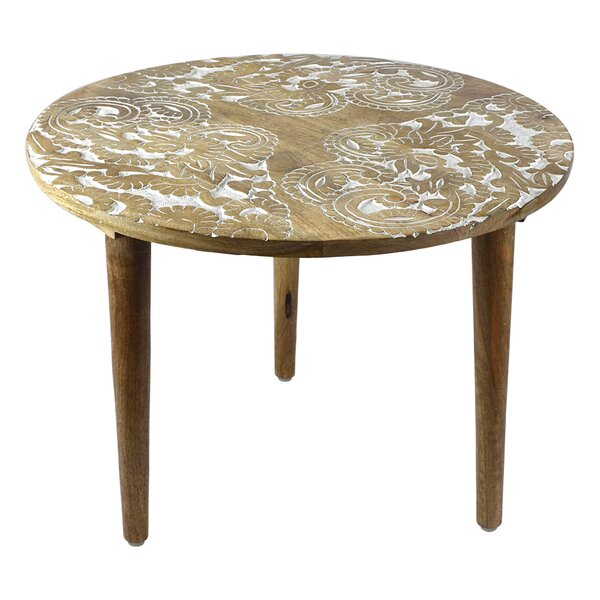 Jelissa Round Wooden End Table by Bungalow Rose Bungalow Rose