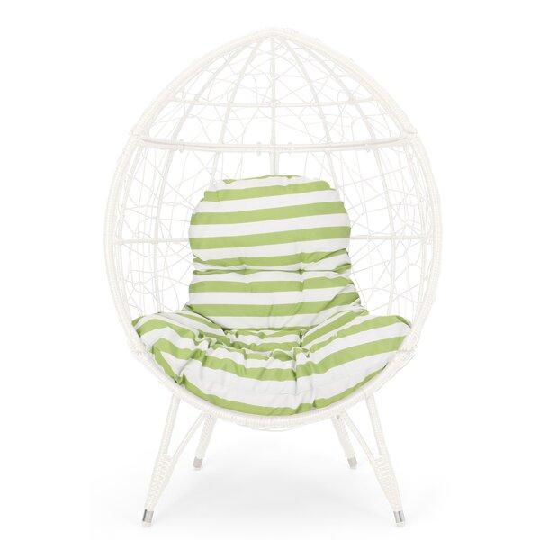 Mabel Wicker Teardrop Swing Chair By Bloomsbury Market