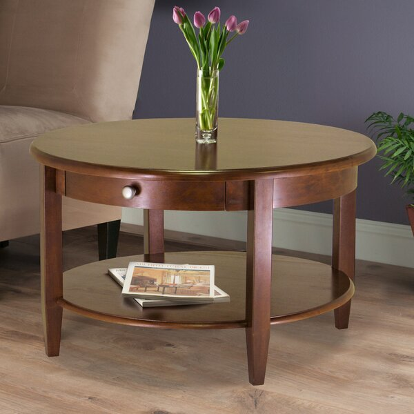 Axilen Solid Wood Coffee Table With Storage By Red Barrel Studio