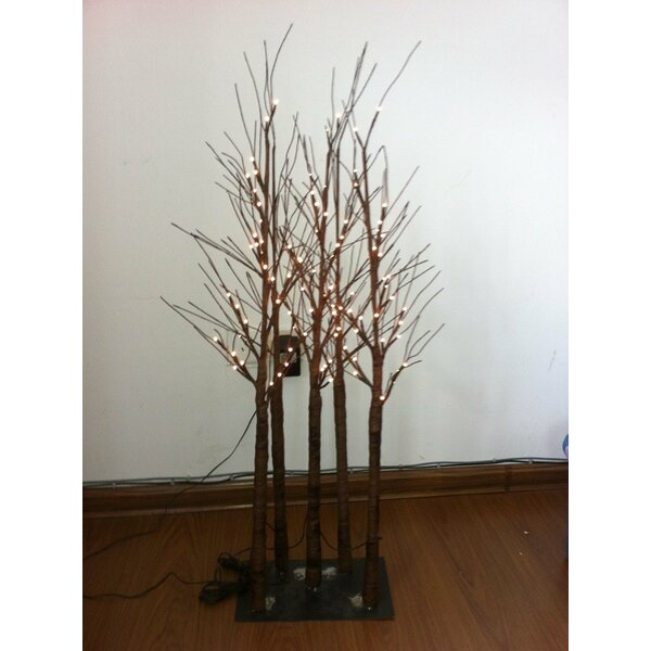 96 Rice Light and 5 Trunk Tree by Hi-Line Gift Ltd.