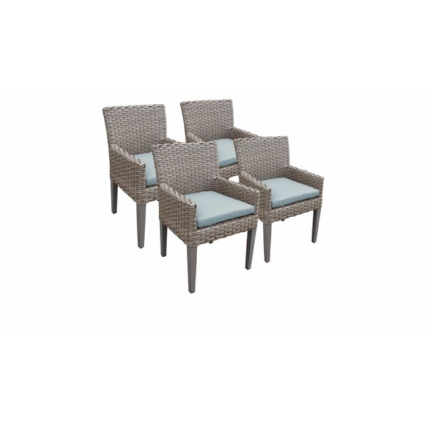 Kenwick Patio Dining Chair with Cushion (Set of 4) by Sol 72 Outdoor