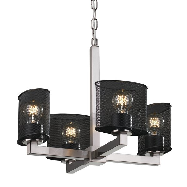Bennett 4 - Light Shaded Classic / Traditional Chandelier by 17 Stories 17 Stories