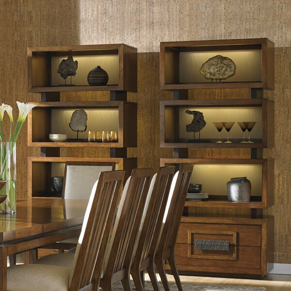 Island Fusion Tonga Tiered Oversized Geometric Bookcase By Tommy Bahama Home
