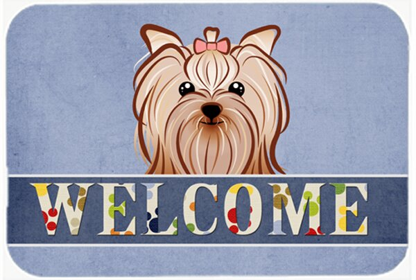 Yorkie Yorkshire Terrier Welcome Bath Rug