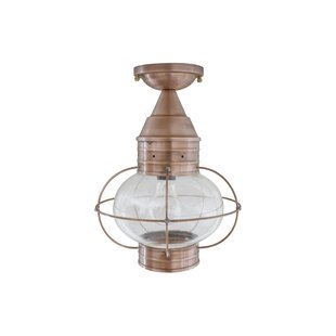 Searching for 600 Series 1-Light Outdoor Semi Flush Mount By Brass Traditions