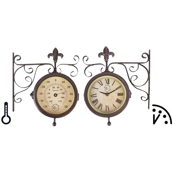 World Of Weather Plastic Station Clock And Thermometer By Esschertdesign.