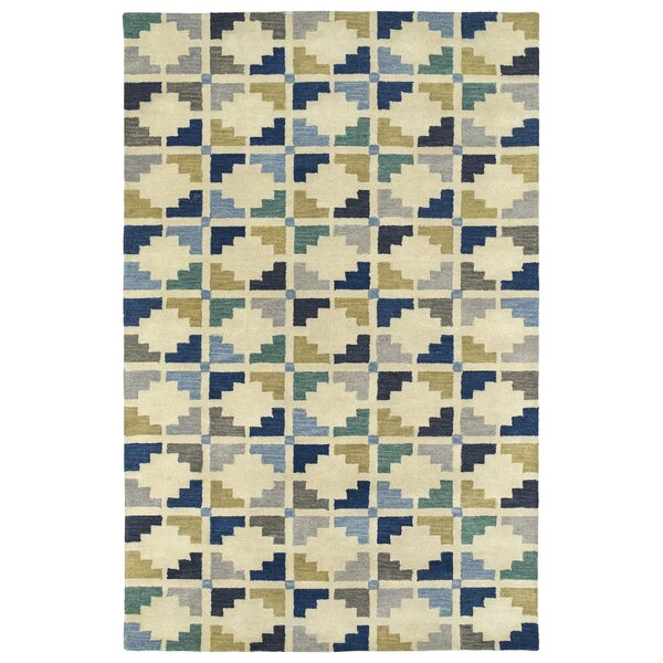 Dresden Hand Tufted Blue/Beige Area Rug by George Oliver