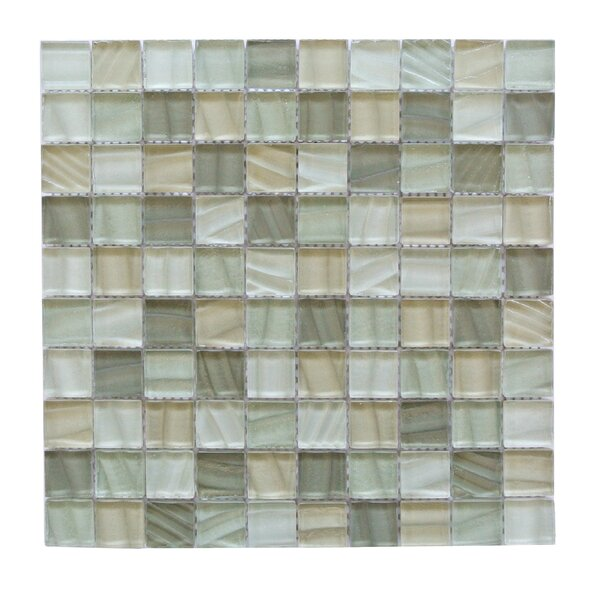 Autunno 1.25 x 1.25 Glass Mosaic Tile in Ash Gray by Abolos