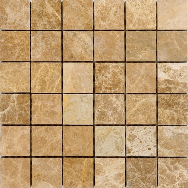 2 x 2 Marble Mosaic Tile in Emperador Light by Epoch Architectural Surfaces