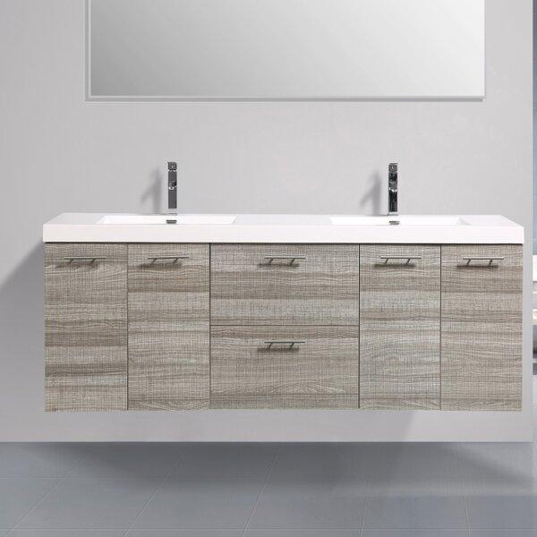 Ophir 84 Wall-Mounted Double Bathroom Vanity by Orren Ellis