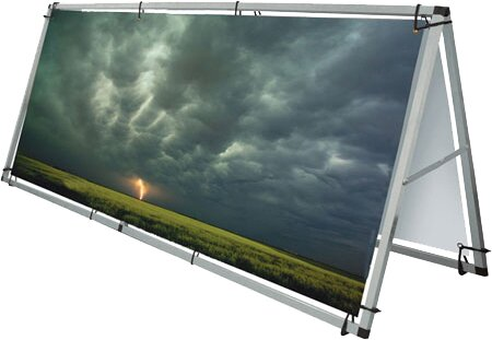 Monsoon Double Sided Billboard by Exhibitor's Hand