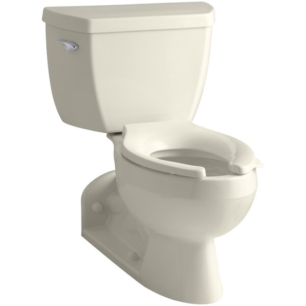Barrington 1.6 GPF Elongated Two-Piece Toilet by Kohler