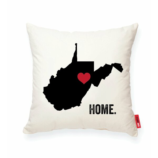 Pettry West Virginia Cotton Throw Pillow by Wrought Studio
