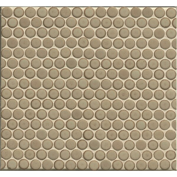 Penny Round Mosaic 12 x 12 Porcelain Tile in Natral by Grayson Martin