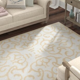 Look for Mathieu Snow White/Beige Area Rug By Lark Manor