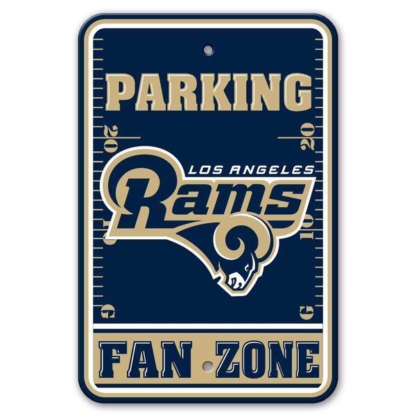 NFL Plastic Fan Zone Parking Sign by Team Pro-Mark