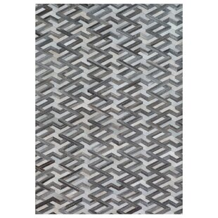 Natural Hide Hand Woven Cowhide Gray Area Rug