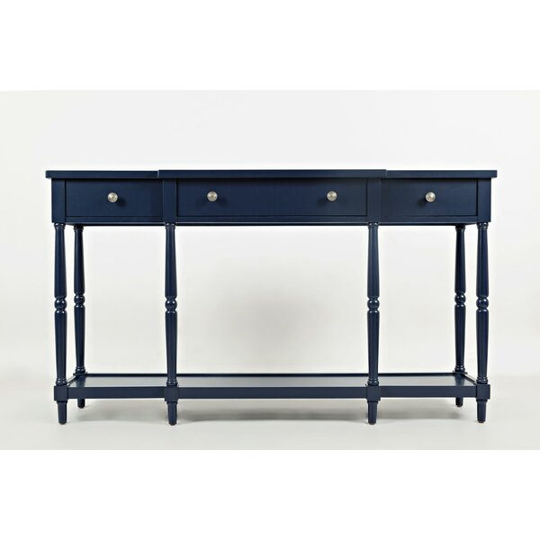 Freddie Breakfront Detailed Wooden Console Table By Alcott Hill