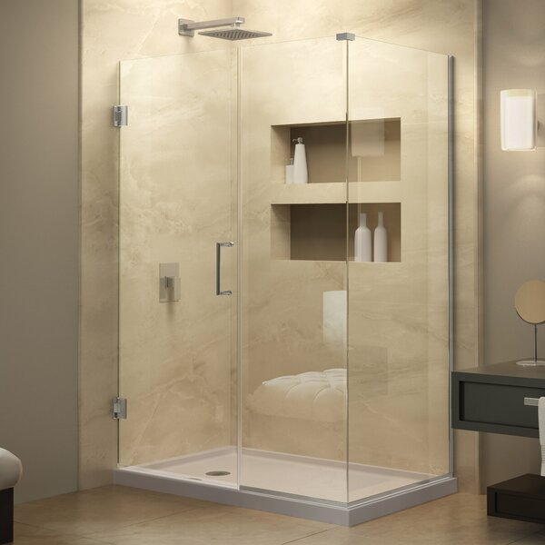 Unidoor Plus 34.5 x 72 Hinged Frameless Shower Door with Clear Max Technology by DreamLine