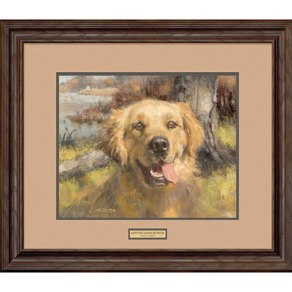Happy Dog by Robert Abbett Framed Painting Print by Wild Wings