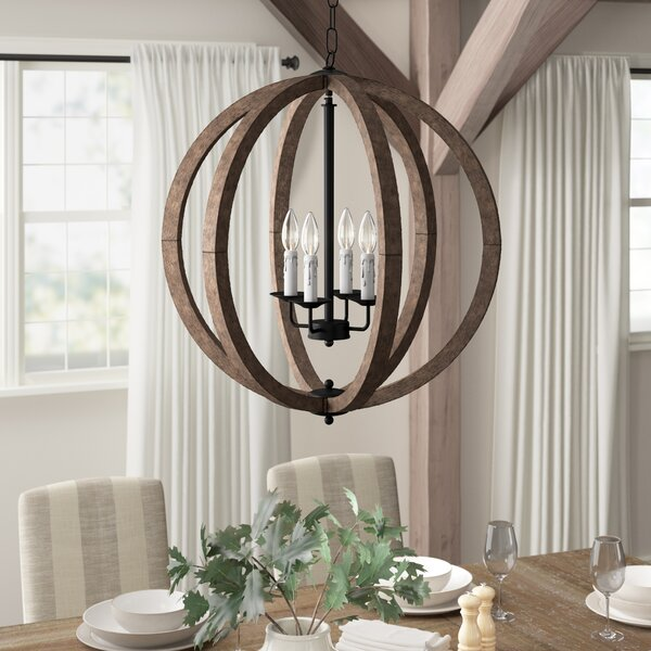 Azriel 4 - Light Unique / Statement Globe Chandelier By Gracie Oaks