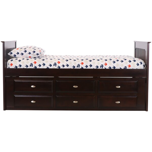 Giuditta Twin Sleigh Bed with 6 Drawers by Birch Lane™ Heritage