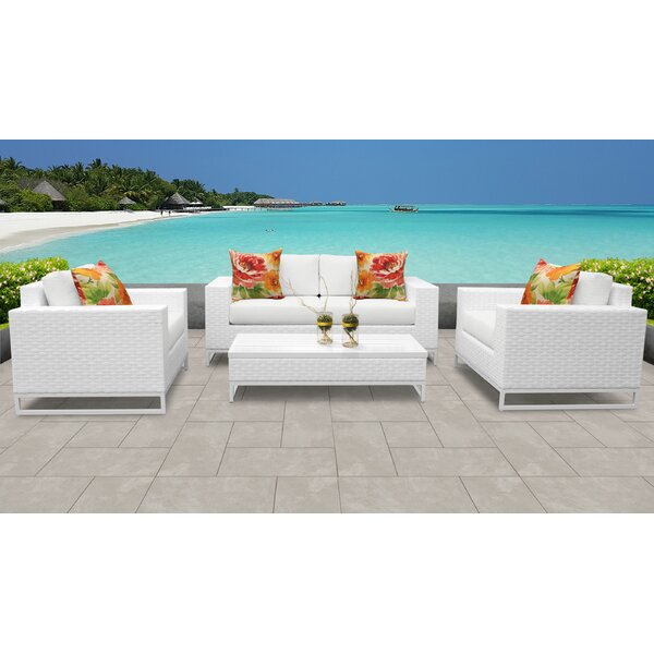 Dehon 5 Piece Sectional Seating Group with Cushions by Highland Dunes