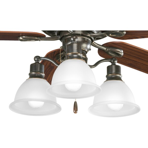 Gradall 3-Light Branched Ceiling Fan Light Kit by Three Posts