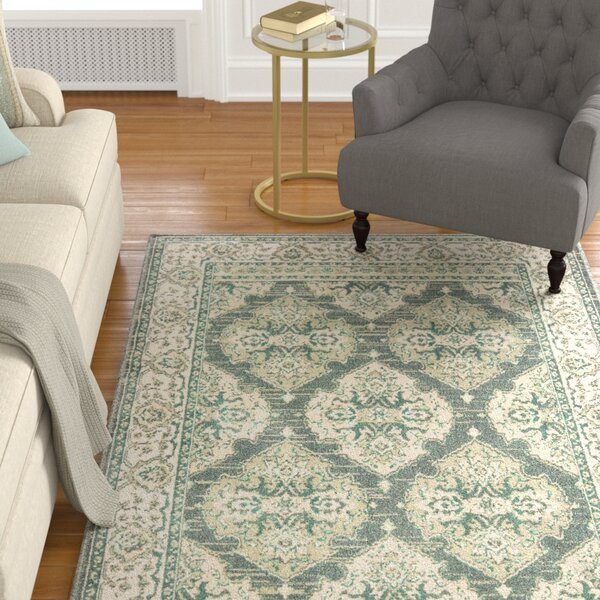 Manford Ivory/Gray/Charcoal Area Rug by Charlton Home