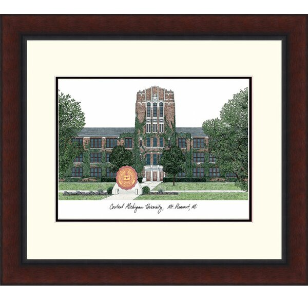 NCAA Central Michigan University Legacy Alumnus Lithogrpah Picture Frame by Campus Images