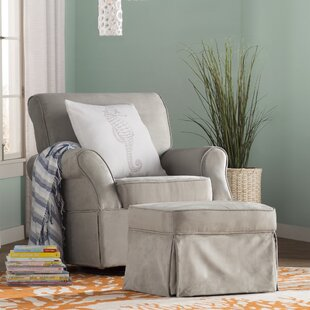 Antonia Swivel Glider and Ottoman Viv + Rae