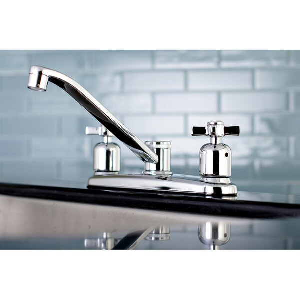 Millennium Centerset Double Handle Kitchen Faucet by Kingston Brass