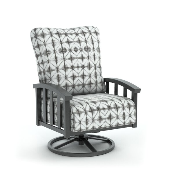 Lonny Swivel Patio Chair with Sunbrella Cushion by Bloomsbury Market