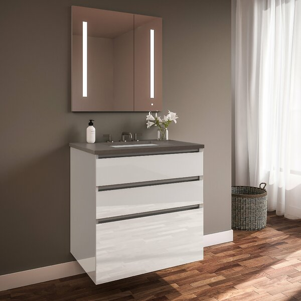 Curated Cartesian 24 Wall-Mounted Single Bathroom Vanity Set by Robern